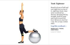 SELF Magazine  Stability Ball .Butt firming Excercise 5 of 6
