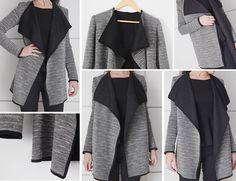 diy jacket draped result
