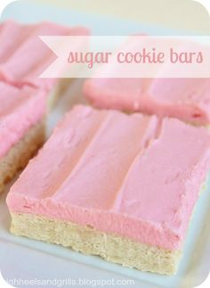 This is the perfect sugar cookie bar recipe! From SomewhatSimple