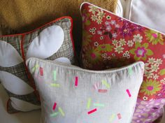 I am dying to make pillows. I will have to do them by hand though until I get get a sewing machine. Thank you for sharing your product and ideas.