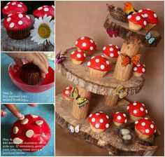 How amazing are theseToadstool Cupcakes on magical fairy garden stand ! I love this creative idea, it's great for. The post The Perfect DIY Fairy Garden Mushroom Cupcakes appeared first on The Perfect DIY. Fairy Birthday Party, Garden Birthday, Birthday Parties, Mushroom Cupcakes, Mushroom Cake, Garden Cupcakes, Cute Cupcakes, Party Cupcakes, Cupcakes For Birthday