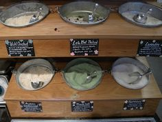 bath salt bulk display idea for craft shows