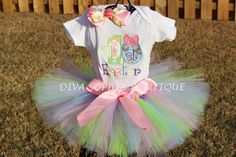 My First Easter Tutu Set  by DivaSophiaBoutique on Etsy https://www.etsy.com/listing/184661793/my-first-easter-tutu-set
