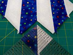 Half Square Triangle Tutorial - Bias Strip Method