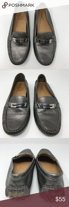 [Coach] 'Fredrica Driving Loafters' women's [Coach] 'Fredrica Driving Loafters' women's •🆕listing •great pre-owned condition, worn only a few times •metallic pewter silver color •rubber number soles •offers and bundles welcomed Coach Shoes Flats & Loafers