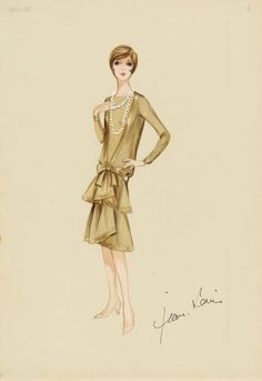 Jean Louis costume illustration for Julie Andrews in Thoroughly Modern Millie (1967)