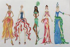 Feather Fashion Design by ChewieOrgana.deviantart.com on @DeviantArt