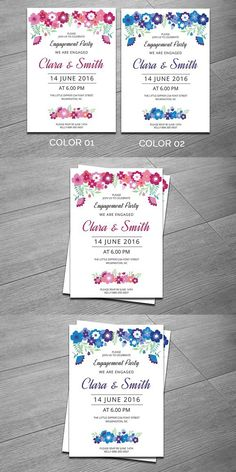 Engagement Party Invitation Template. Wedding Card Templates