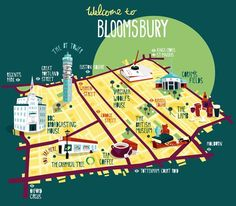 Bloomsbuty map - illustration via Creative Roots