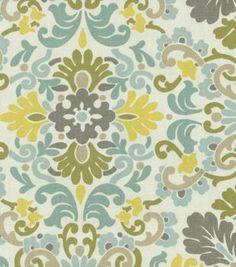 Home Decor Print Fabric- PKL Folk Damask Bliss