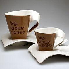 Gota de agua grande de t juego de caf de porcelana de for Dulce coffee studio