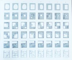 Go Hasegawa. Town House in Asakusa. Plan studies. Source: JA78