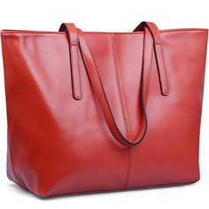 """New Trending Shopper Bags: JackChris Large Tote Bag Leather Shoulder Purses and Handbags on Clearance for Women, WBDZ038(Red). JackChris Large Tote Bag Leather Shoulder Purses and Handbags on Clearance for Women, WBDZ038(Red)  Special Offer: $49.00  188 Reviews """" About JackChris Our brand is focusing on offering high quality retro style handbags, shoulder bags, shopper or work tote bag,..."""
