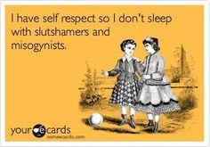 OMGYES. True self-respect.