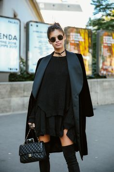 Loving this Black on black outfit. Find more at MihaBalan.com