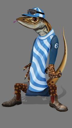 Billy is a mascot for Western Australian tourism group - Gascoyne Murchison group.