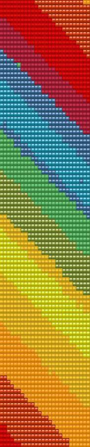 Loom Bracelet Beading Pattern Rainbow by MiniatureGardensUK, $5.00