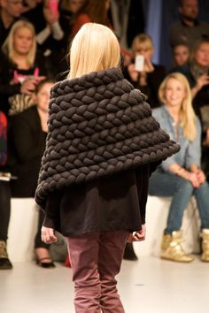 Amazing braided cape throw at New Generals fall / winter 2013 kids collection, a collaboration with David Anderson
