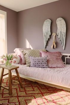 cool 86 Cute Bedroom Design Ideas with Pink And Green Walls