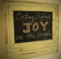 JOY  -  what a word