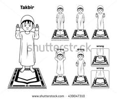 Muslim Prayer Position Guide Step by Step Perform by Boy