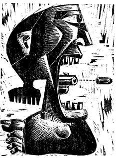 Resultado de imagen para xilografia americo balan