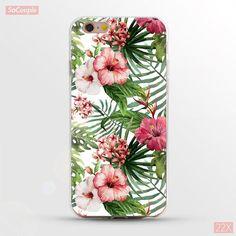 Super Flexible TPU Case For iphone 7 7plus 6 6s 6plusSlim Fruit Flower Plants