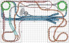 N Scale Model Trains, Model Train Layouts, Scale Models, Model Railway Track Plans, Train Table, Ho Trains, Train Tracks, Train Set, Model Homes