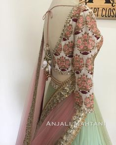 """389 Likes, 12 Comments - Anjali Mahtani (@anjalimahtanicouture) on Instagram: """"Up-close with the details and embroidery - a #classicfavorite . . . #classic #wedding…"""""""