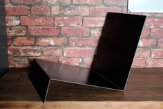 Metal Vinyl Record Stand, LP Stand, Folded Steel Record Storage, Raw Metal Vinyl Record Storage, Vinyl Record Display, Book Shelf
