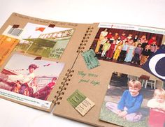 Kraft Scrapbook Album Blank Scrapbook Album Scrap Book por ttstore