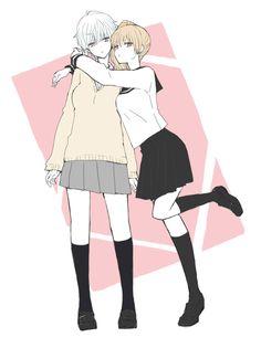 Sakata Gintoki & Okita Sougo || Genderbend