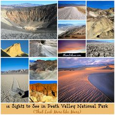 12 Must See Sights in Death Valley National Park >> Looks just like you're walking on the moon!