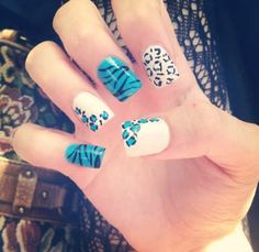 blue and white leopard