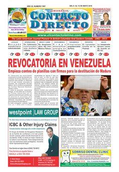 Semanario contacto directo edición 6 de mayo  PERIÓDICO CONTACTO DIRECTO EDICIÓN 6 DE MAYO.