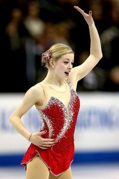 Gracie Gold 2013 Prudential U.S. Figure Skating Championships-Red Figure Skating / Ice Skating dress inspiration for Sk8 Gr8 Designs.