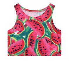 578304598d0d9 Juicy Watermelon Women s Crop Top Tank Top Crop Tank