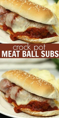 Easy Crockpot Meatball Subs Crockpot meatball subs are amazing! This Meatball sub recipe is packed with flavor and it's so simple! The tomato sauce is so delicious and the homemade meatballs are the best. Give this Crockpot meatball sub recipe a try. Meatball Sub Recipe, Meatball Subs, Meatball Recipes, Beef Recipes, Cooking Recipes, Healthy Recipes, Meatball Sandwiches, Best Crockpot Recipes, Meatball Marinara Sub