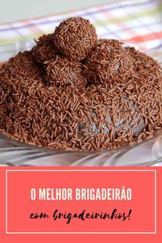 receita de brigadeirão tradicionbal coberto por brigadeirinhos