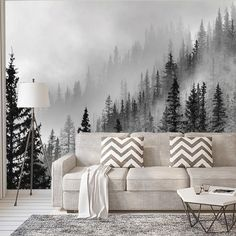 Enchanted Forest - Wall Mural [Full Panel Removable Wall-Covering] Measurements (per panel): W: 27in x H: 10ft • Easy Installation and Removal (See Install Tab Below) • Re-Positionable • Premium Polye