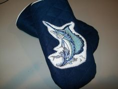 Nautical quilted eyeglass case with marlin by ExpressionQuilts, $4.99