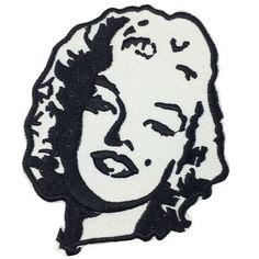 Parche Marilyn Monroe by Parches y pins Parche con la cara de Marilyn MonroeParche bordado sobre loneta de nylon negra, en la parte trasera lleva pegamento termosensible que permite su aplicaci¨®n con la plancha sobre las prendas que lo permitan.Una vez cosido se puede lavar y no desti?e.