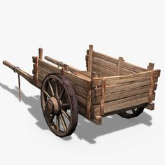 3D Wooden Cart  http://www.turbosquid.com/3d-models/wooden-cart-obj/777703