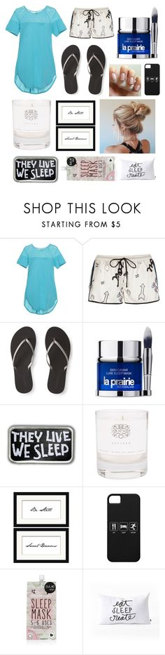 """""""Untitled #290"""" by vinimalik ❤ liked on Polyvore featuring Cosabella, River Island, Aéropostale, La Prairie, Law of Sleep, Pottery Barn, Forever 21 and DENY Designs"""