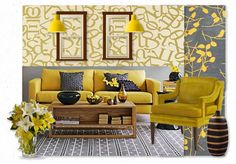 Check out this moodboard created on @Cheryl Brogan: yellow room by estefien