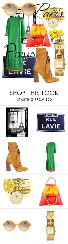 """""""City Walker I Love Paris In The Fall"""" by bvn01 ❤ liked on Polyvore featuring Trademark Fine Art, Chloé, Lanvin, CÉLINE, Tory Burch and Nina Ricci"""