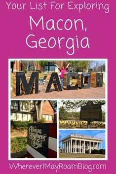 This city was steeped in southern traditions & grandeur from yesteryear. World class museums, tasty food, & history unfold when exploring Macon, Georgia. Stuff To Do, Things To Do, South Usa, Macon Georgia, Travel Goals, Work Travel, Travel Kits, West Virginia, Travel Usa