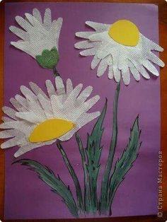 Blumen aus Handabdrücke
