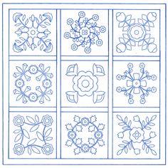 Free Applique Quilt Block Patterns   Traditional Applique Patterns - Grandma's Attic Sewing Emporium, Quilt ...