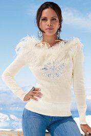 Boston ProperFabulous snowflake sweater